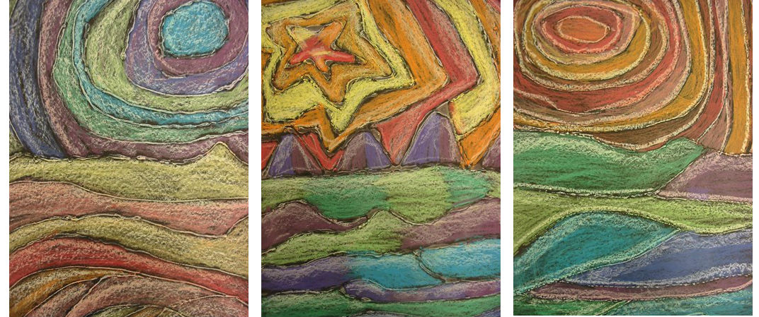 Warm And Cool Color Chalk Pastel Drawings
